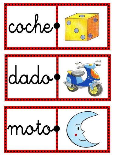 Domino de palabras para imprimir domino de palabras for Fichas de domino