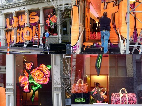 """Finalmente a coleção Louis Vuitton + Sthepen Sprouse começa a surgir na loja, eu já falei dela nesse post aqui e semana que vem é o grande lançamento nas lojas. Ontem teve a festinha de lançamento e a Louis Vuitton do SoHo (sempre ele) já está """"fantasiada"""" no espírito graffiti sprousiano. Minha LV graffiti adquirida …"""