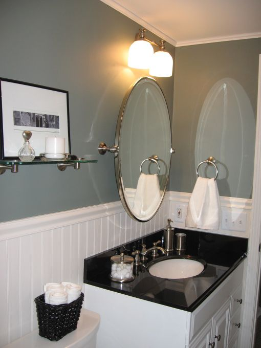 Small bathroom designs love the and bathroom paneling on - Bathroom remodel ideas with wainscoting ...