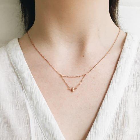 Ladies Queen Bee Drop Necklace Rose Gold Olivia Burton London Rose Gold Necklace Drop Necklace Necklace