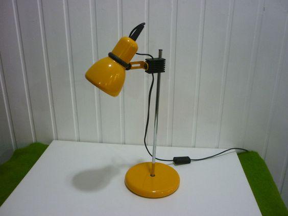Vintage Tischlampen - 70ziger Jahre Schreibtischlampe. - ein Designerstück von MissSophie_67 bei DaWanda