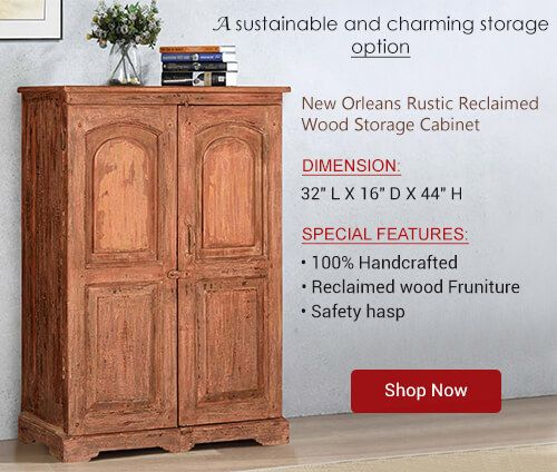 The Rustic Armoire Is Entirely Handcrafted Using Genuine Old Reclaimed Solid Wood The Reclaimed Wood Wood Storage Cabinets Rustic Reclaimed Wood Wood Storage Solid wood storage cabinets