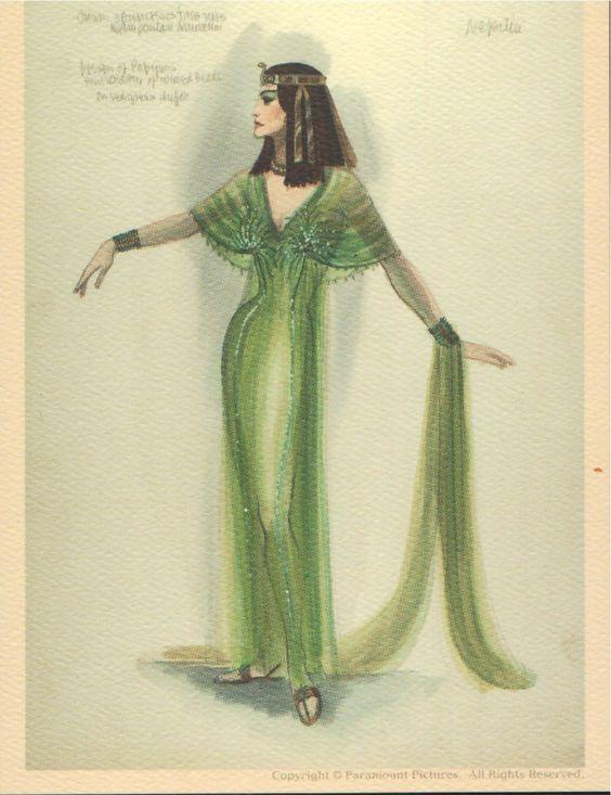 "Edith Head costume design for   ""The Ten Commandments,"" (1956)."