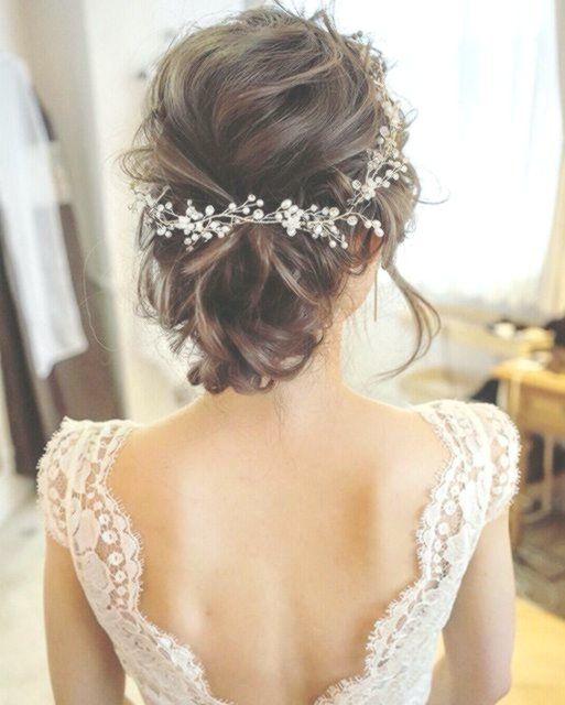 Brautfrisur Hochzeitsfrisur Hochsteckfrisur Hochzeit Romantisch Kopfschmuck Hochzeitsfrisuren Brautfrisur Frisur Hochzeit