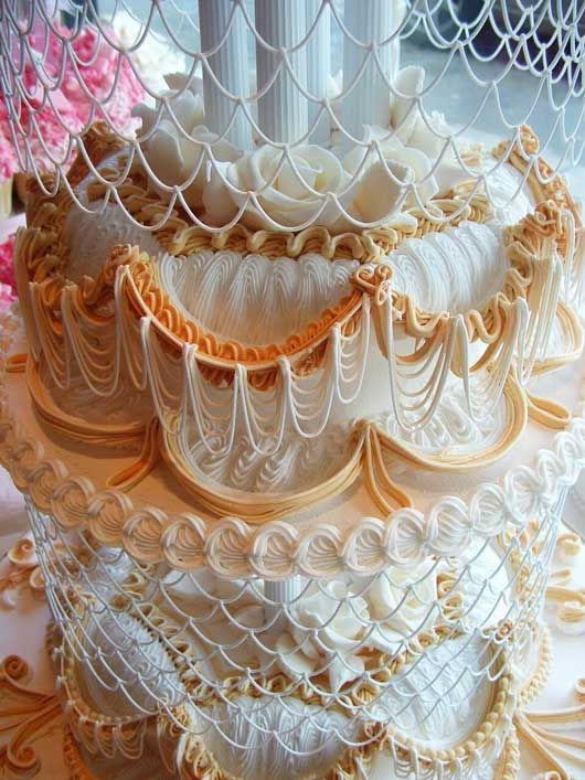 Lace Piping Cake Decorating : David s Cakes: royal icing wedding lace closeup. Kind of ...