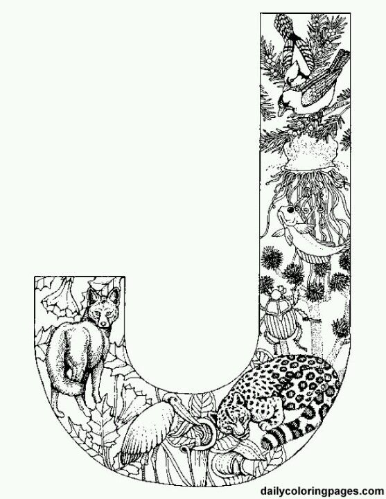 animal alphabet letters httpdailycoloringpagescomalphabet letters to - Challenging Animal Coloring Pages