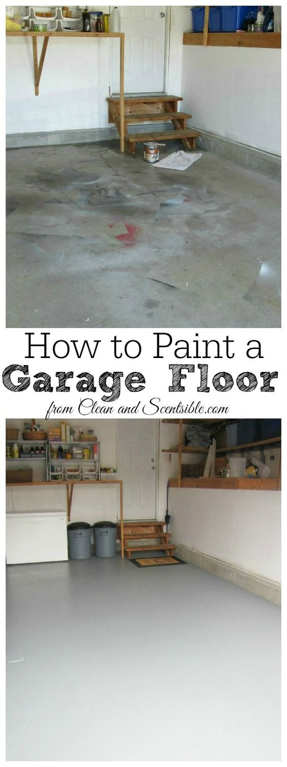 How To Paint A Garage Floor Stains Floor Painting And