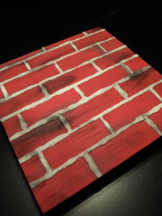 Cake board, Bricks and Cakes on Pinterest