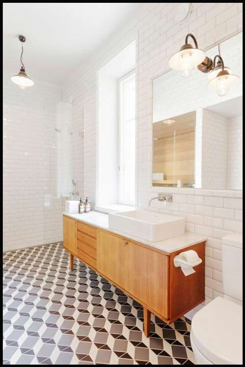 Univers Contemporain Scandinave Naturel Chic Salle De Bain House Bathroom Mid Century Modern Bathroom Bathroom Inspiration