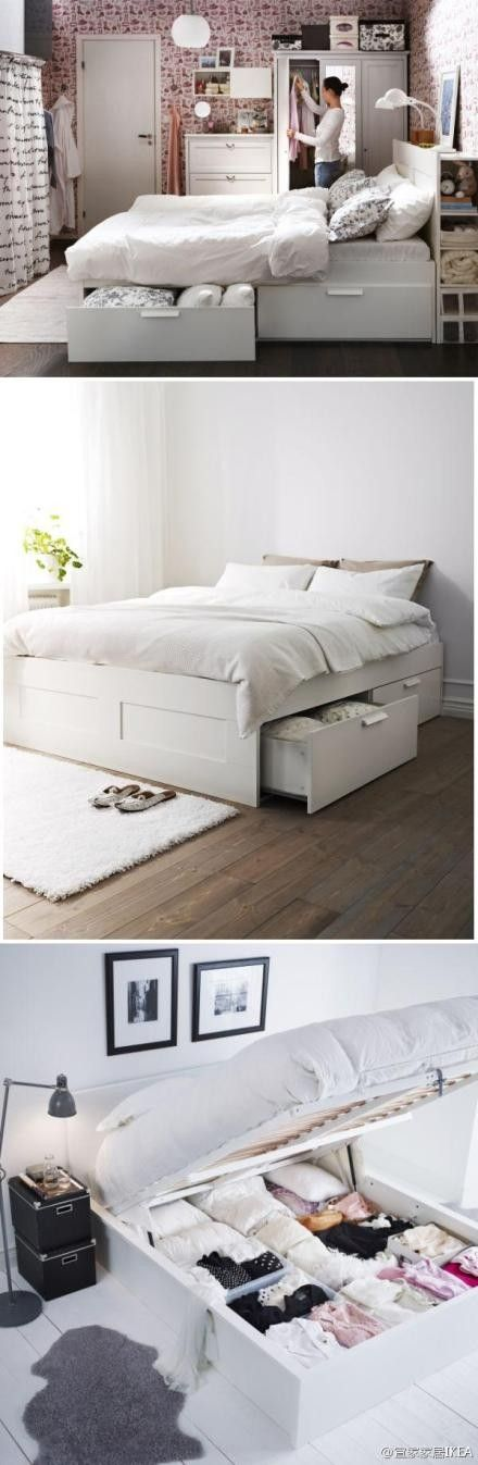 Bed that lifts up so you can us all the under the bed for Space saver beds ikea