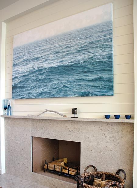 Love the fireplace. art by Chris Armstrong.