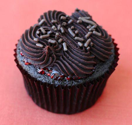 Chocolate Raspberry Truffle Cupcakes