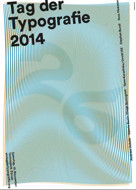 Poster, Tag der Typografie, 2014