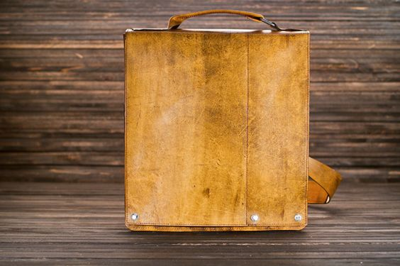 fullgive leather presents/the man bag. $330.00, via Etsy.
