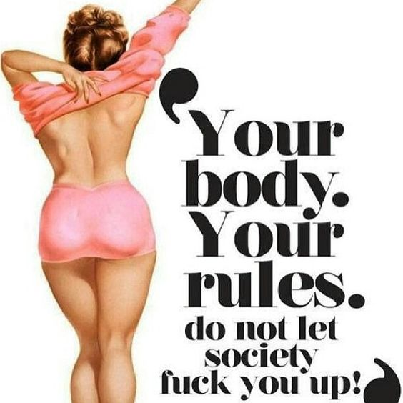 We really need to love our body!! But be healthy!!