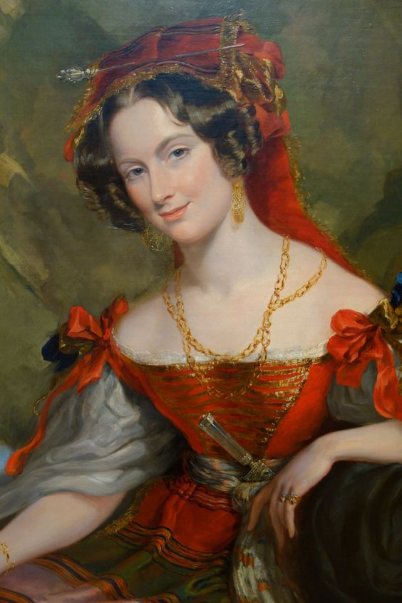 Portrait of Lady Caroline Montagu in Byronic Costume by George Hayter: