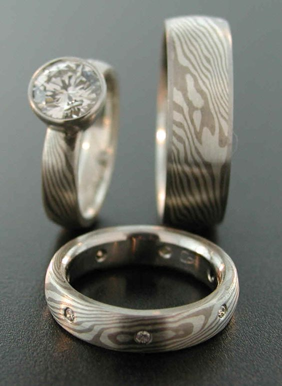 mokume gane- artist who made our wedding bands
