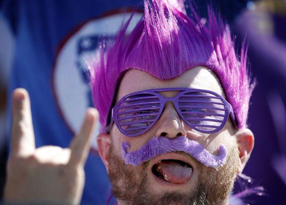 Minnesota Vikings fan Mike Rolfson of Fargo, North Dakota.
