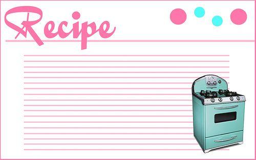 Todos os tamanhos | Free Printable Recipe Card | Flickr – Compartilhamento de fotos!