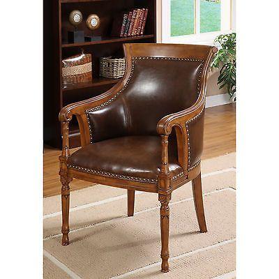 Furniture of America Antique Oak Accent Chair | eBay