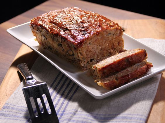Turkey Bacon Cheeseburger Turkey Loaf #Protein #Veggies #Meatloaf #MyPlate