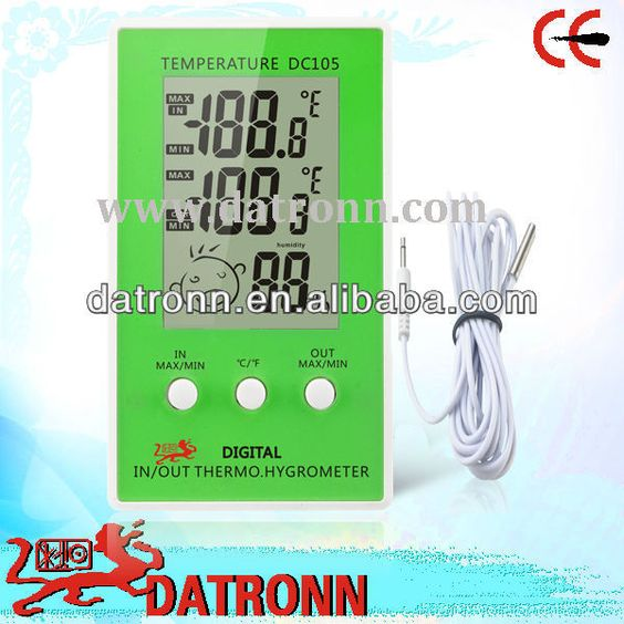 Digital Accurate Indoor Outdoor Thermometer Dc105 - Buy Accurate ...