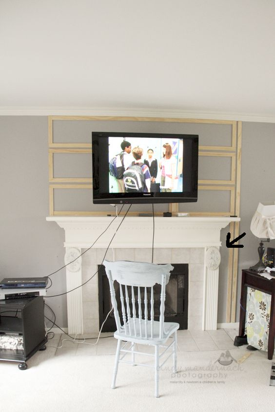 Cameras and Chaos... great idea... just without going over the edge of the mantel