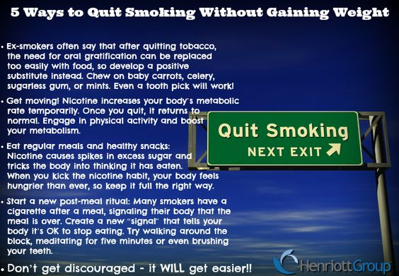 "#WellnessWednesday: Aiming to quit smoking but worried about potential weight gain? Here are five ways to ""Kick the butt"" while avoiding weight gain. #NewYearResolution #QuitSmoking #Wellness"