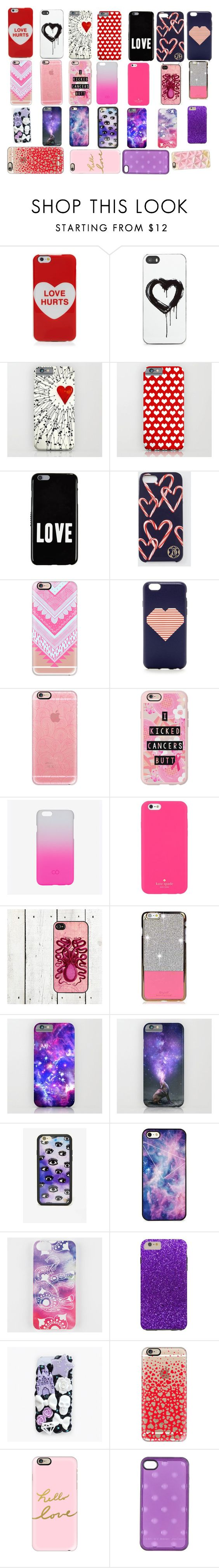 """""""Valentine's Day phone cases!"""" by madison-e-mccarthy ❤ liked on Polyvore featuring Marc Jacobs, Zero Gravity, Givenchy, Draper James, Casetify, J.Crew, C6, Kate Spade, Wildflower and BlissfulCASE"""