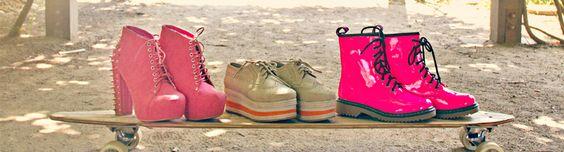 Cute way to display fun shoes! via @Nectar