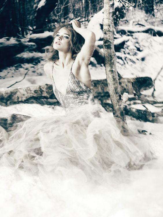 Natalia Vodianova – The White Fairy Tale  Roberto Cavalli  by Paolo Roversi. Work by Giovanna Battaglia.