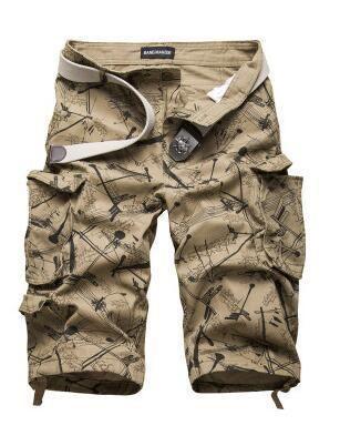 96ce1941d7 New Men's Cotton Cargo Shorts Good Quality Multi-pocket Camouflage Tooling  Shorts Malemodkily