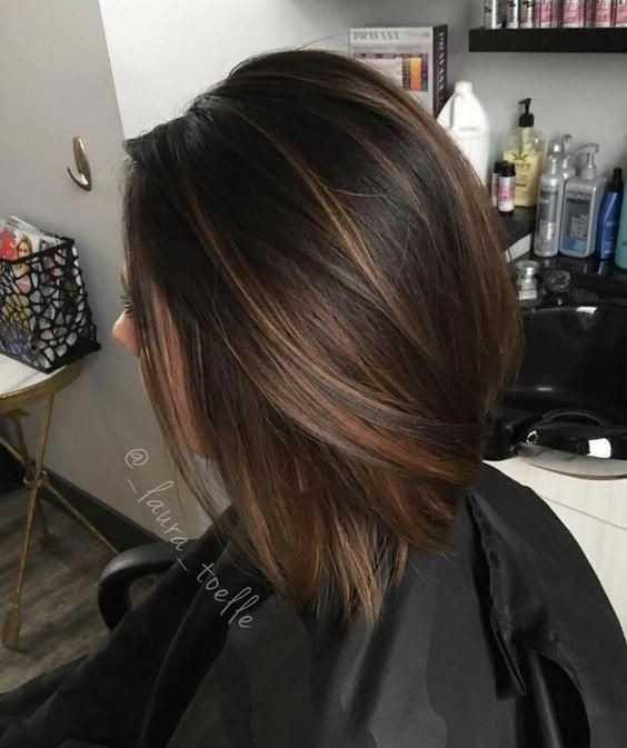 Image result for balayage dark brown hair bob straight