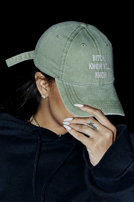 d4d5be61870 Image result for rihanna bitch i know you know. Rihanna Hat Adjustable Cap  Features  · Available in ...
