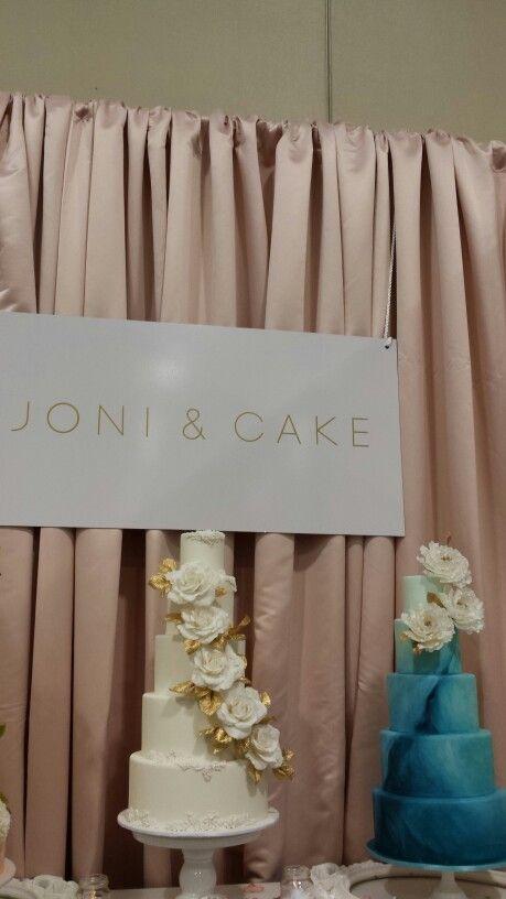 Joni and Cake Teal Painted Cake