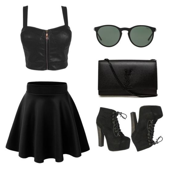 """""""In disguise"""" by tatyjadon on Polyvore featuring Breckelle's, Yves Saint Laurent and Polo Ralph Lauren"""