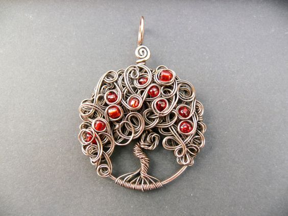 Tree of life pendant Copper wirewrapped Tree by adornjewels Pin to keep or click…