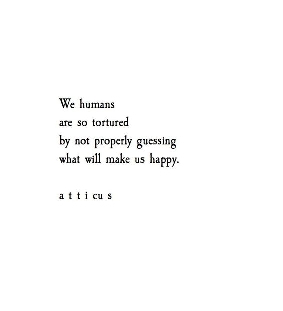 We humans are so tortured by not properly guessing what will make us happy.