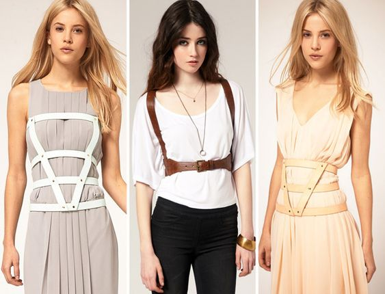 Leather corset harness belts from Asos.com!!! :D LOVE!