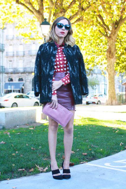 preppy burgundy style