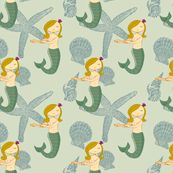 mermaid fabric on spoon flower