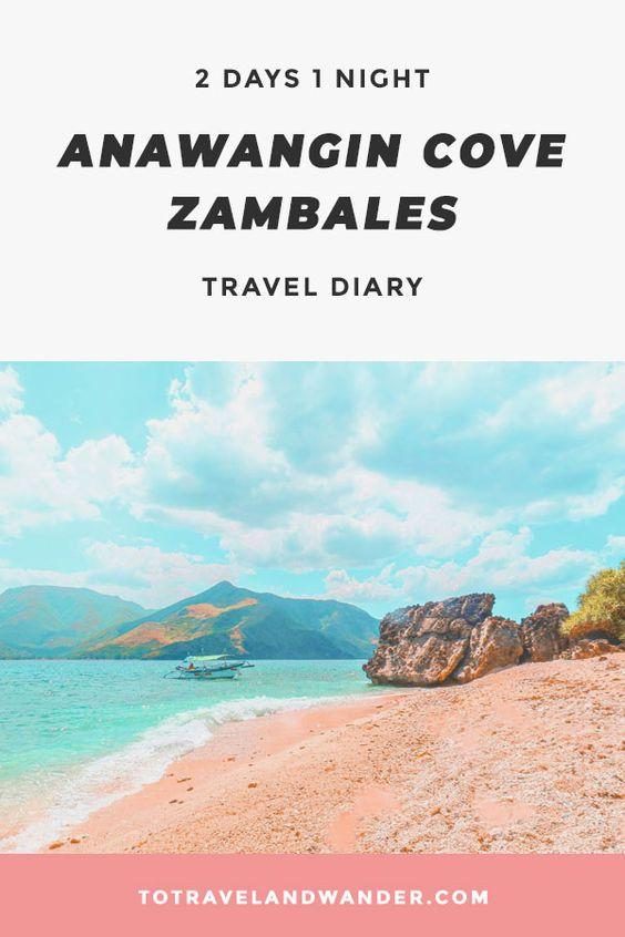 2D1N Anawangin Cove Zambales Travel Diary