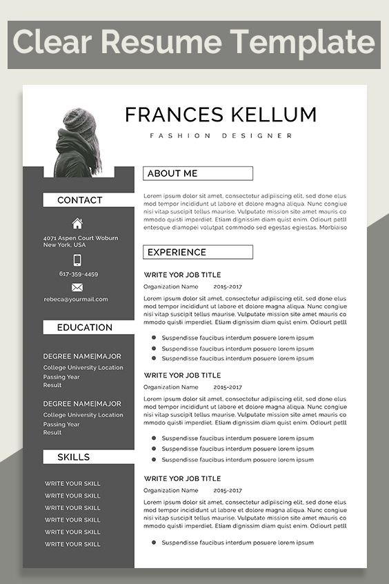 Resume Template Professional Resume Ms Word Resume Modern Etsy In 2021 Resume Template Resume Template Professional Portfolio Resume