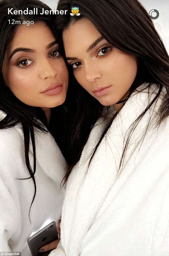 Fashion empire: The Keeping Up With The Kardashians stars shared a selfie as they got their hair and makeup done before their photo shoot
