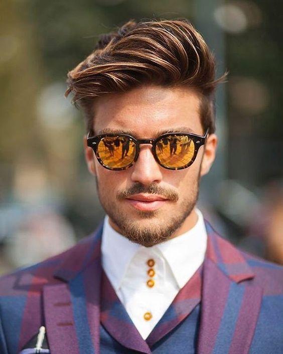 bart tönen ideen von mariano model männermode mode für männer leicht aufgehellte spitzen der haare und des bartes