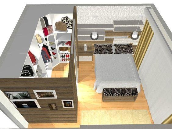 Quarto De Casal Com Suite E Closet ~ Pinterest ? O cat?logo mundial de ideias