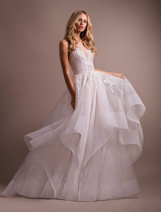 Style 6906 Lilith Hayley Paige Bridal Gown Ivory Lace And Tulle Ball Gown Illusion Bate Ball Gowns Wedding Wedding Dresses Kleinfeld Ball Gown Wedding Dress