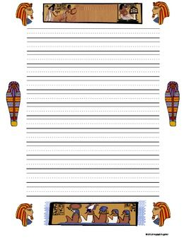 Custom writing paper borders for elementary