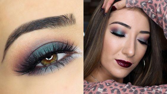 Green Smokey Fall Makeup Tutorial | Makeup Geek Cosmetics Duochrome Coll...