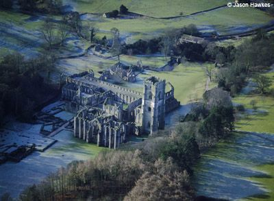 Fountains Abbey, Ripon, North Yorkshire (Picture: Jason Hawkes, Britain From Above, DK)